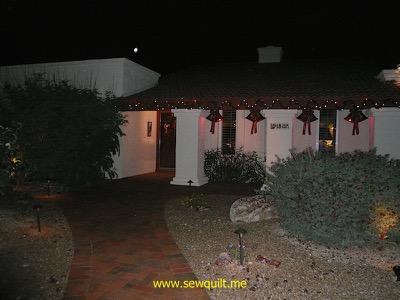 Christmas bells at night