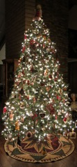 Christmas teee at night