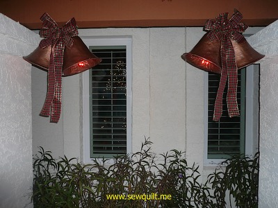 Close up of Christmas bells