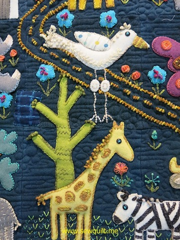Folk-Tails Stork and Giraffe