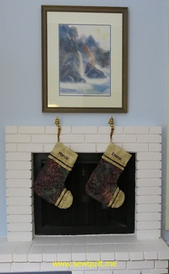 Marcie and Emmie Stockings