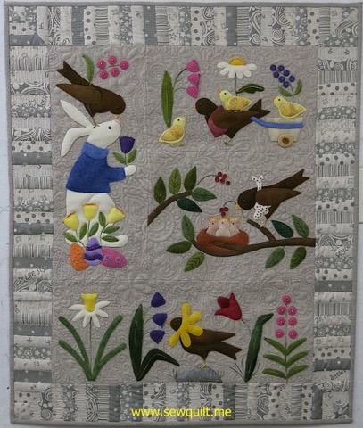 Marcie's Bunny and Birds quilt