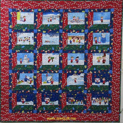 Peanuts Christmas Quilt