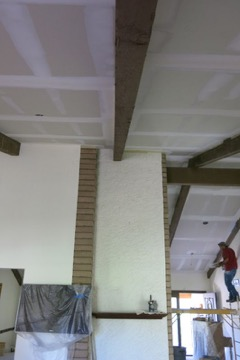 Preparing ceiling before texturing