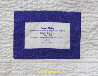 Purple Daisy label