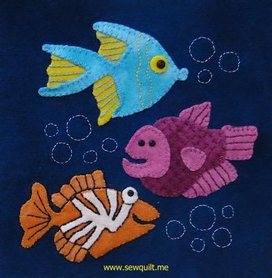 Serendipity Fish block 2