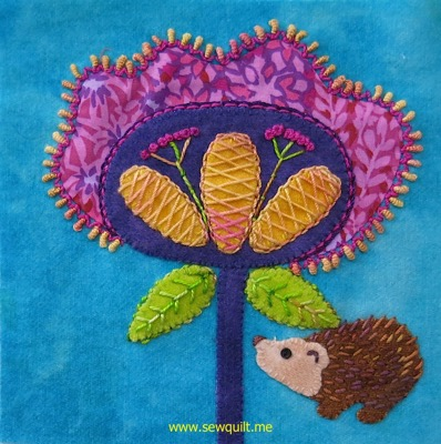 Solstice Dream block 3 hedgehog blossom