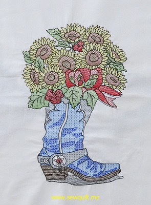 Sunflower Cowboy Boot