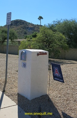 Wildcats mail box flag